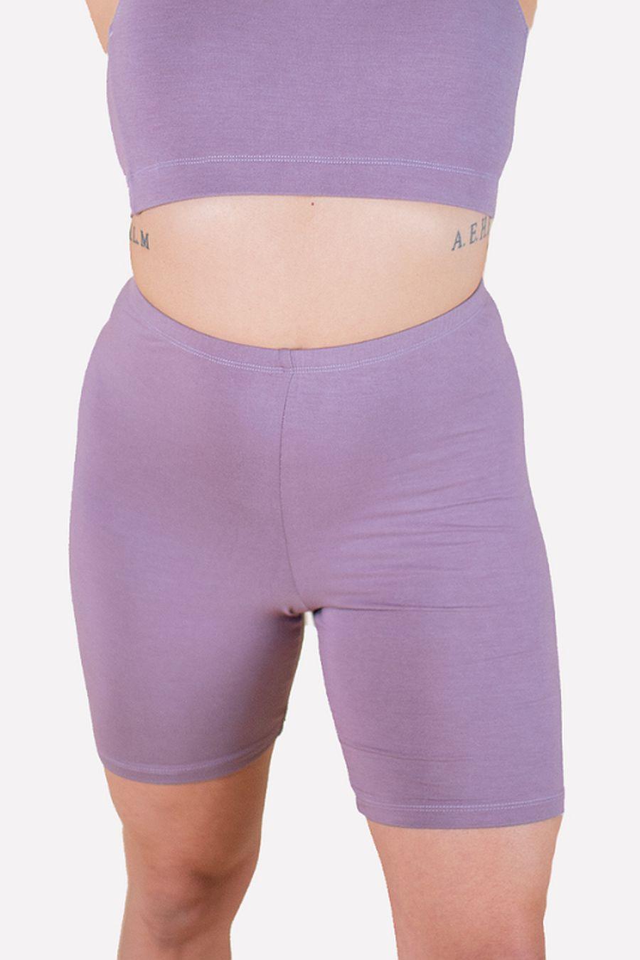 Hara The Label Mauve Gabi Bike Shorts