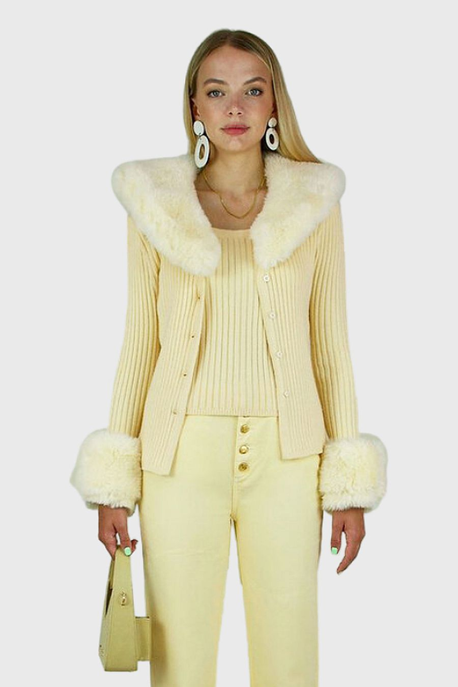 House Of Sunny Peggy Cardigan - Blonde