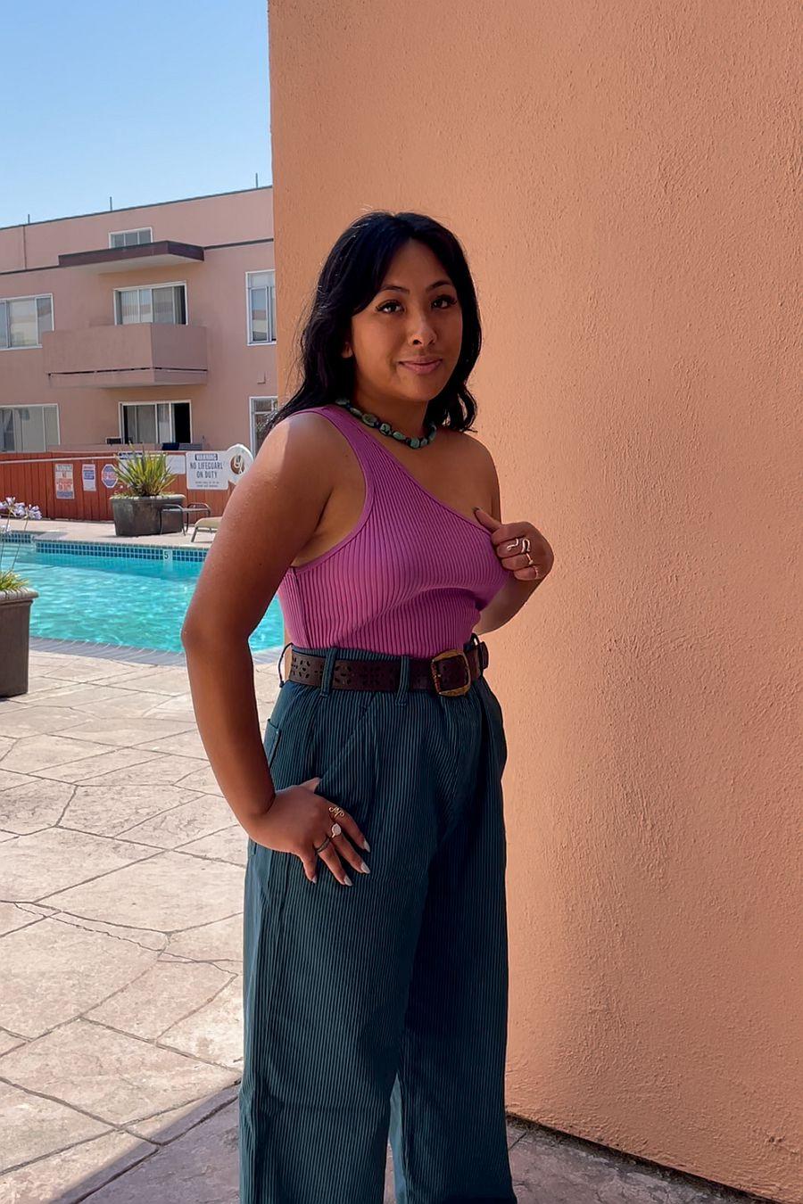 LACAUSA Clothing Lia Tank - Pansy