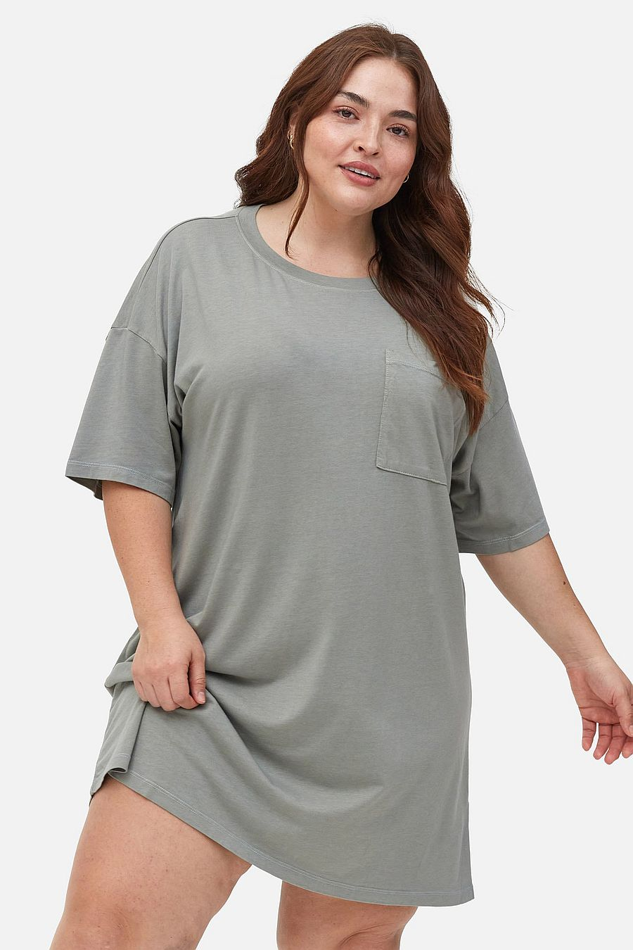 MATE The Label Tencel Sleep Tee Dress - SAGE