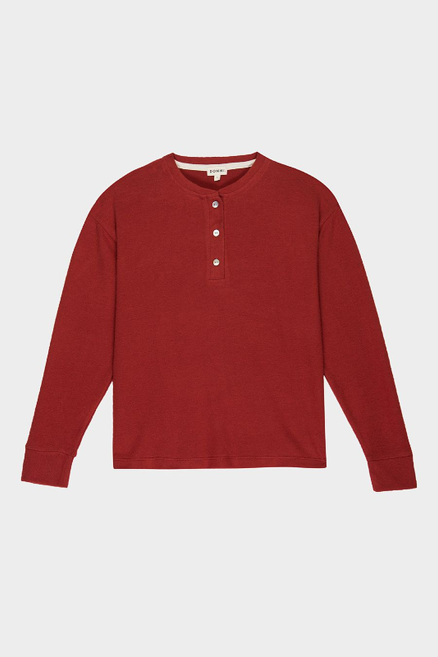DONNI. Sweater Henley - Rust