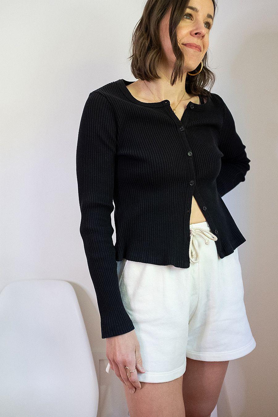 LACAUSA Lucy Cardigan - Tar