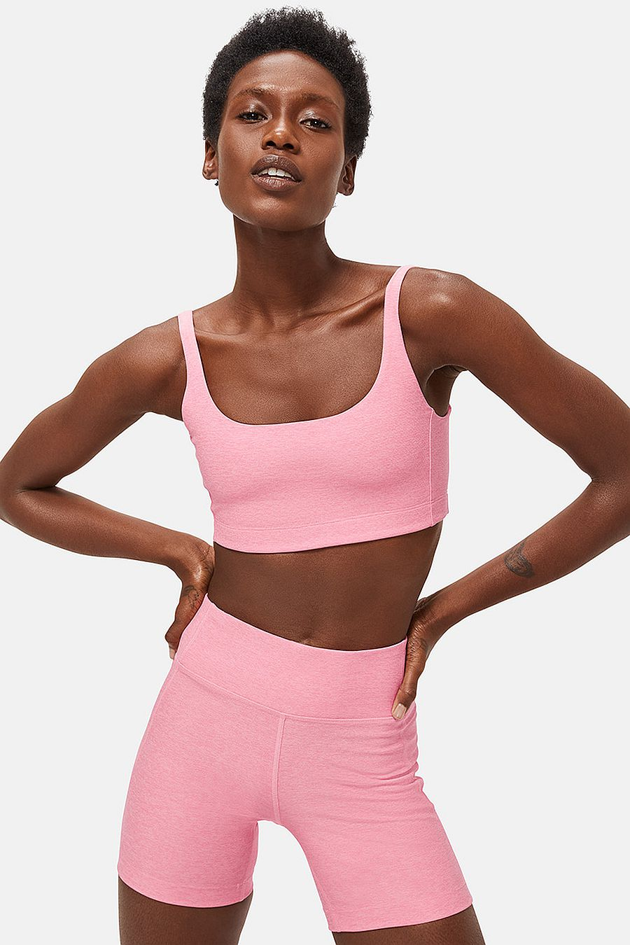 Outdoor Voices Double time bra - Pink punch