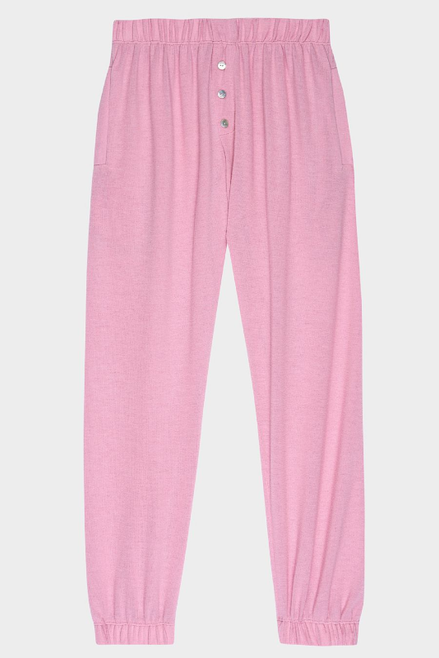 DONNI. Sweater Henley Sweatpant - Rose