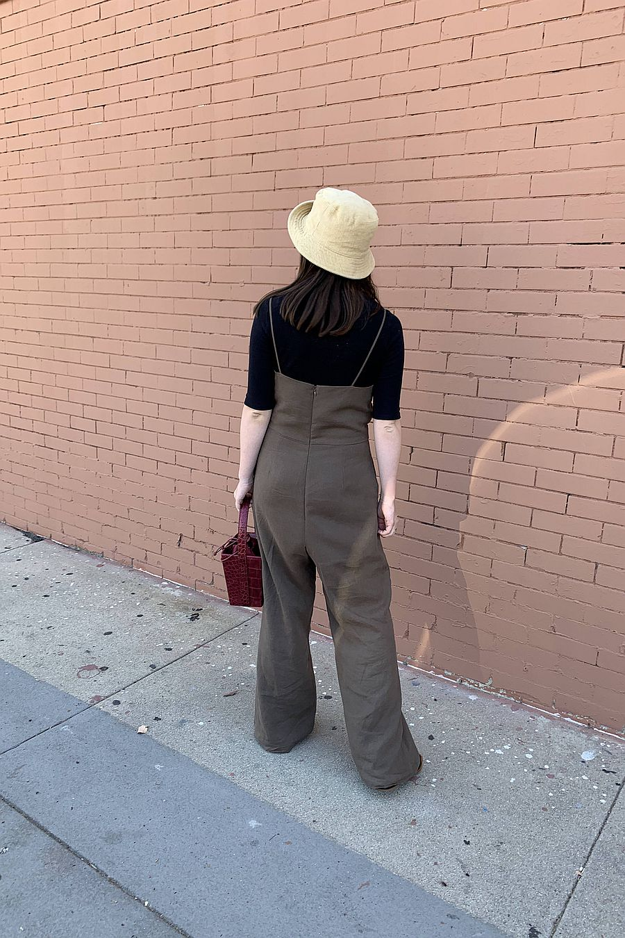 Almina Concept Camisole Linen Jumpsuit - Brown