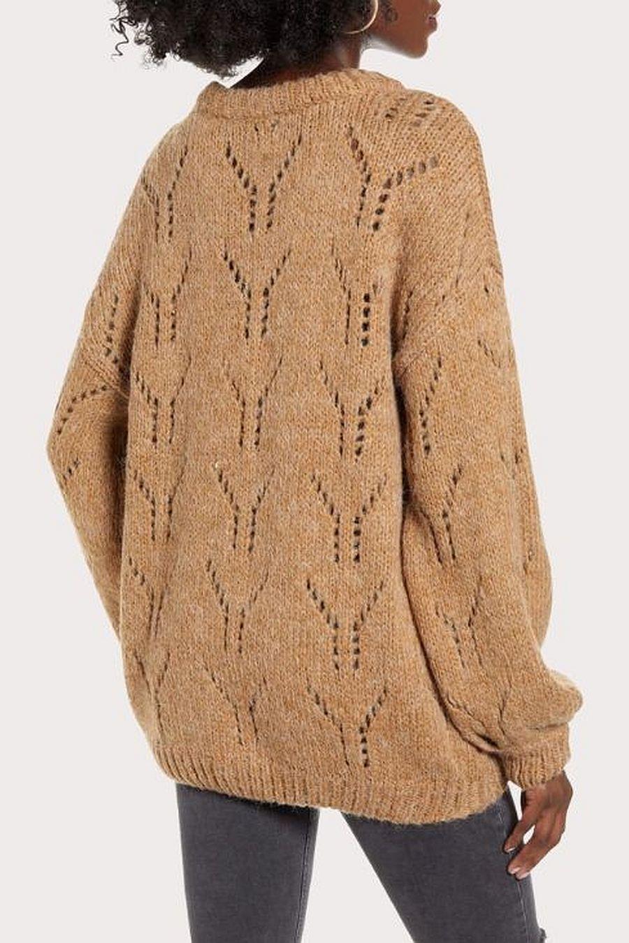 J.O.A. Balloon Sleeve Sweater