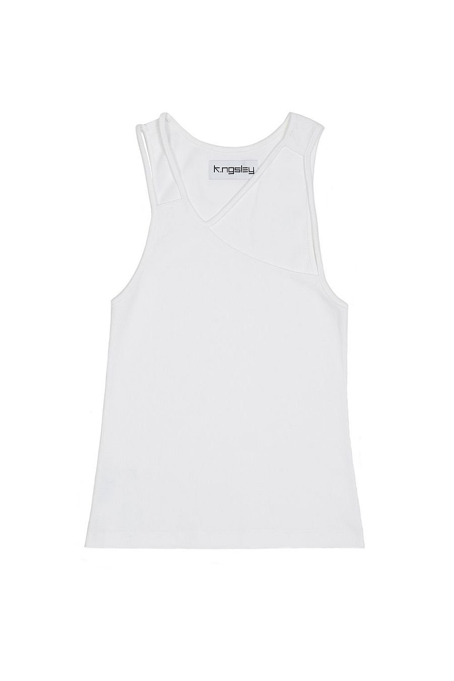 K.ngsley Fist Tank - White