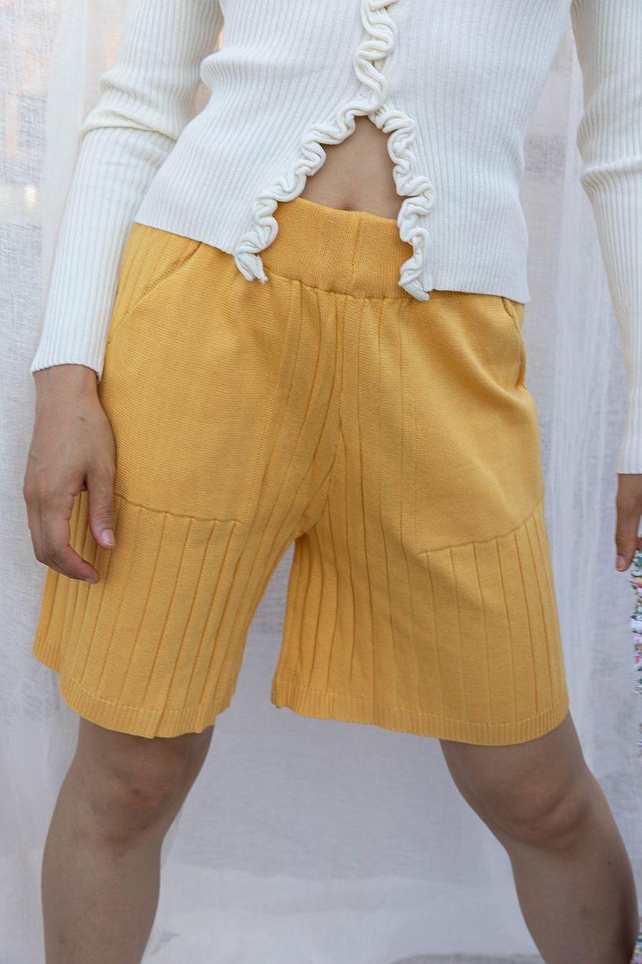Find Me Now Dakota Ribbed Short - Yellow