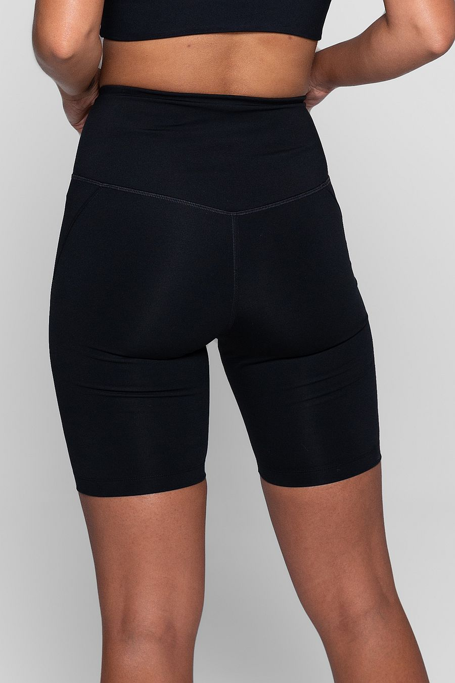 Girlfriend Collective Black High Rise Bike Short