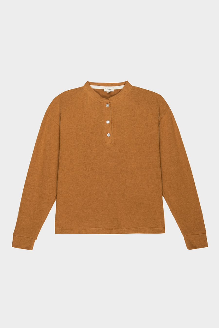 DONNI. Sweater Henley - Dijon