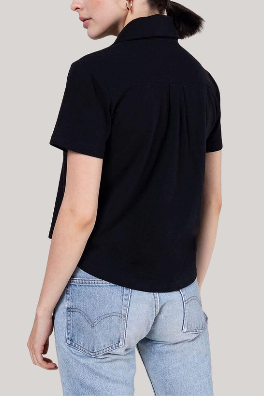 Leset Short Sleeve Button Down - Black