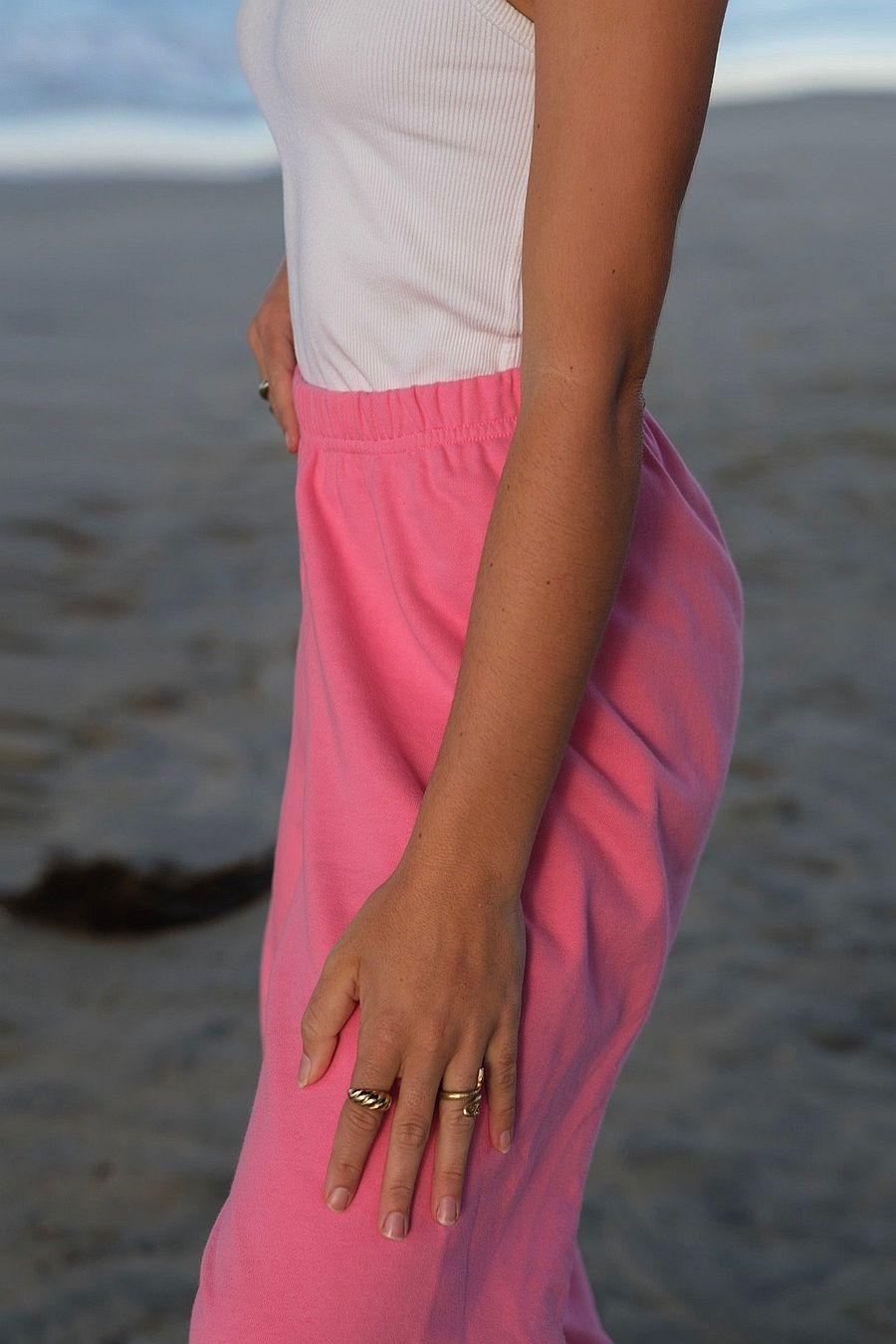 Petites Reveries Bella Joggers   Pink Taffy