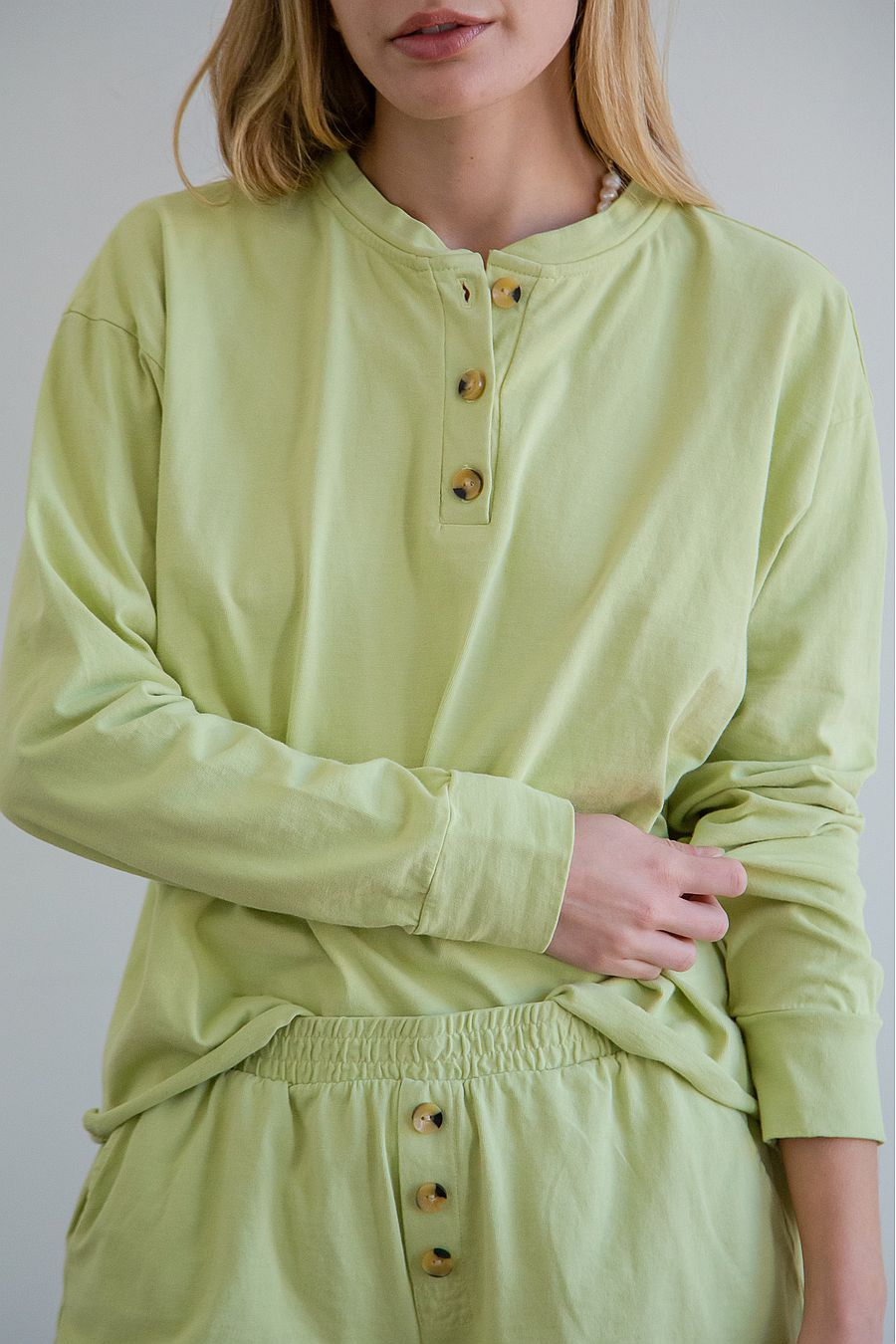 DONNI. Henley Tee - Lime