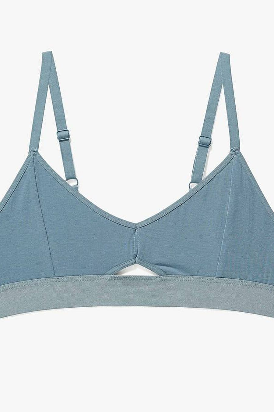 Richer Poorer Cutout Bralette - Blue Mirage