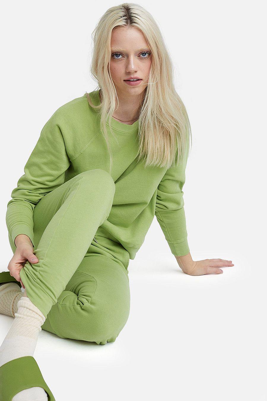 MATE The Label Organic Terry Raglan Sweatshirt - PISTACHIO