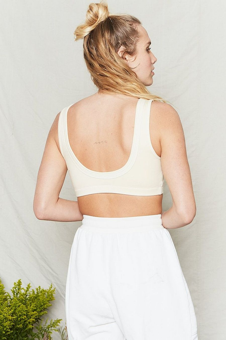 Back Beat Co. Organic Cotton Double Band Bra - Natural