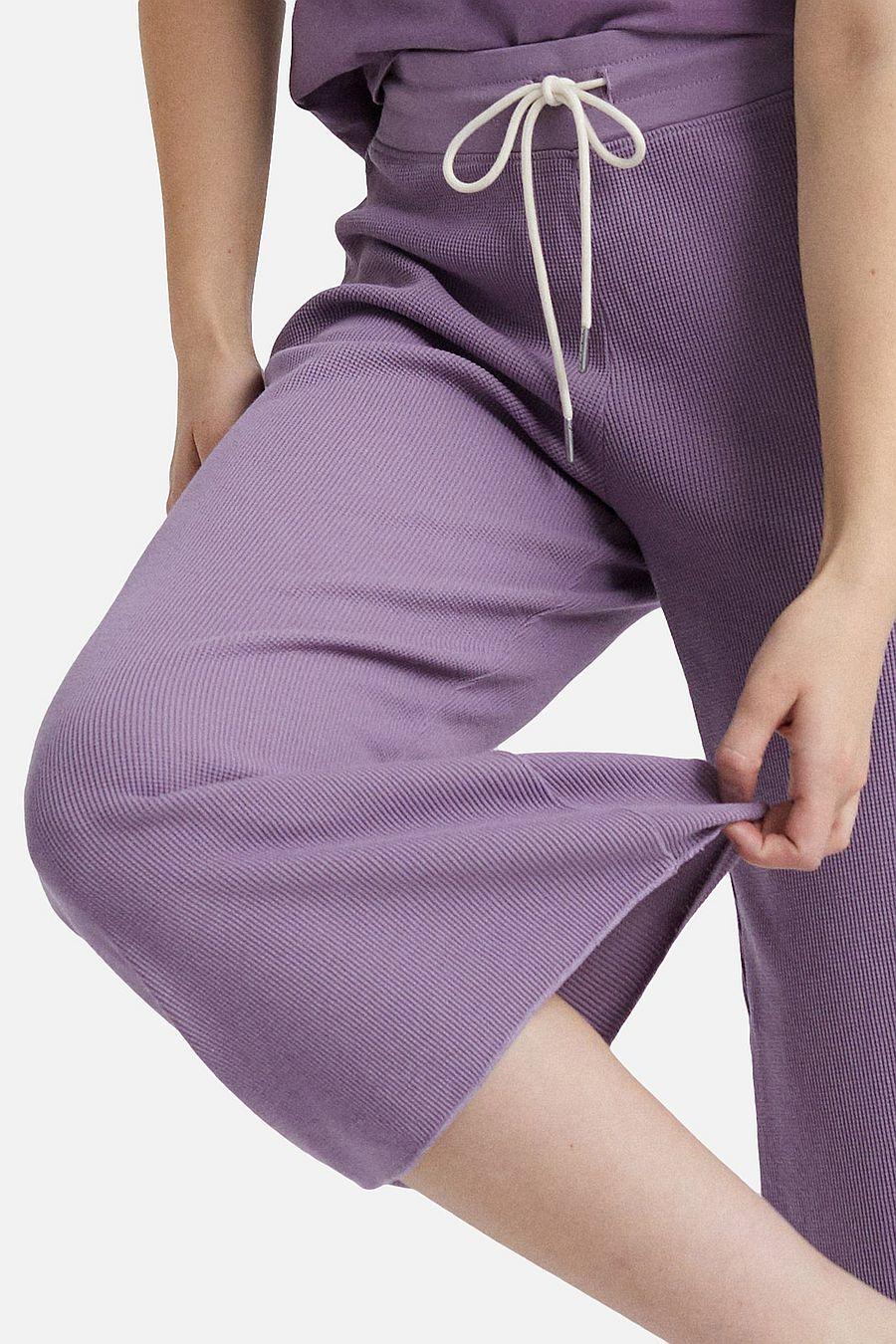 MATE The Label Organic Thermal Wide Leg Pant - LAVENDER