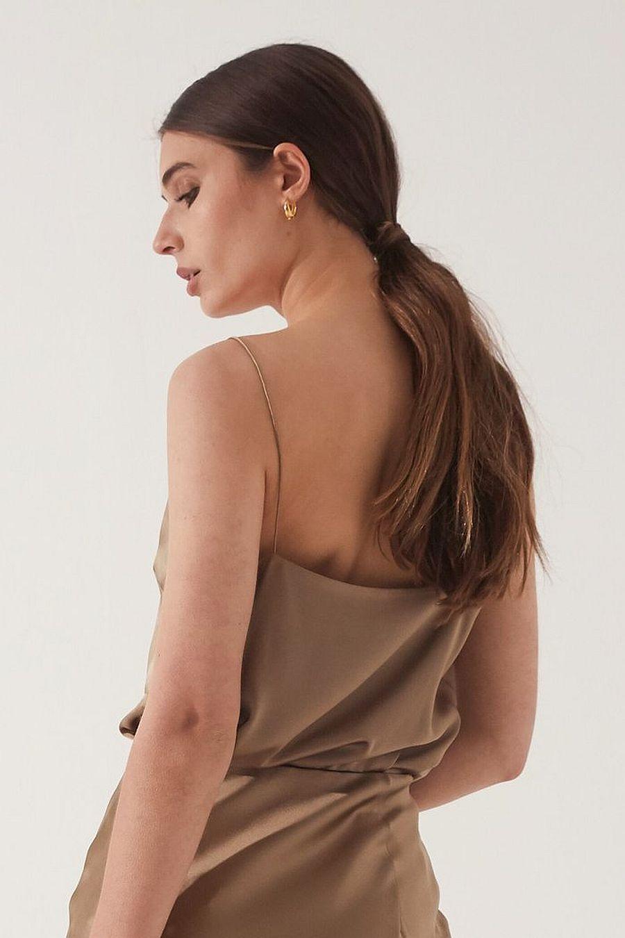 Almina Concept Silk Cami - Camel