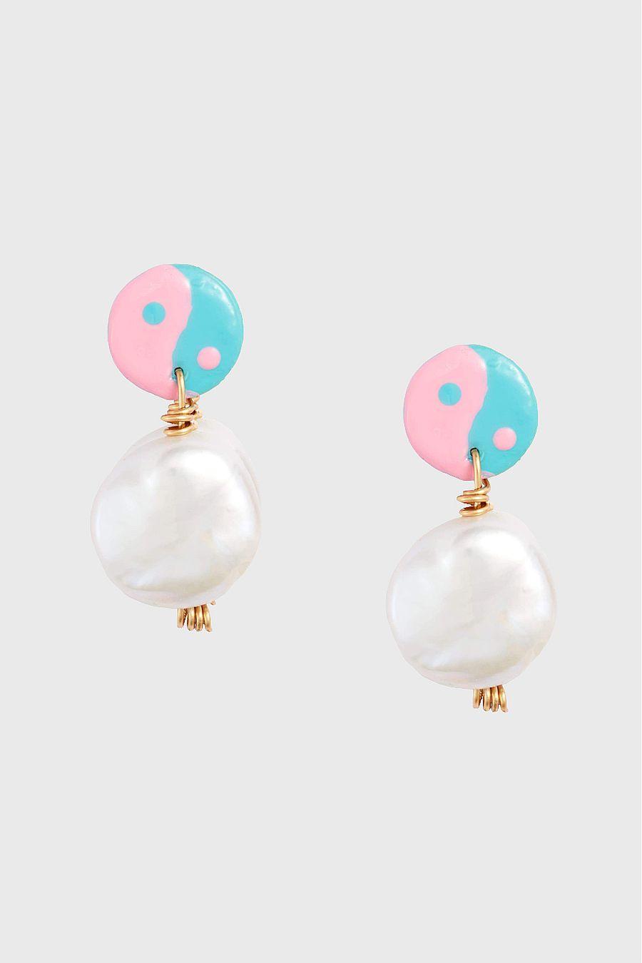 Susan Alexandra Pearly Yin Yang Earring - Trippy