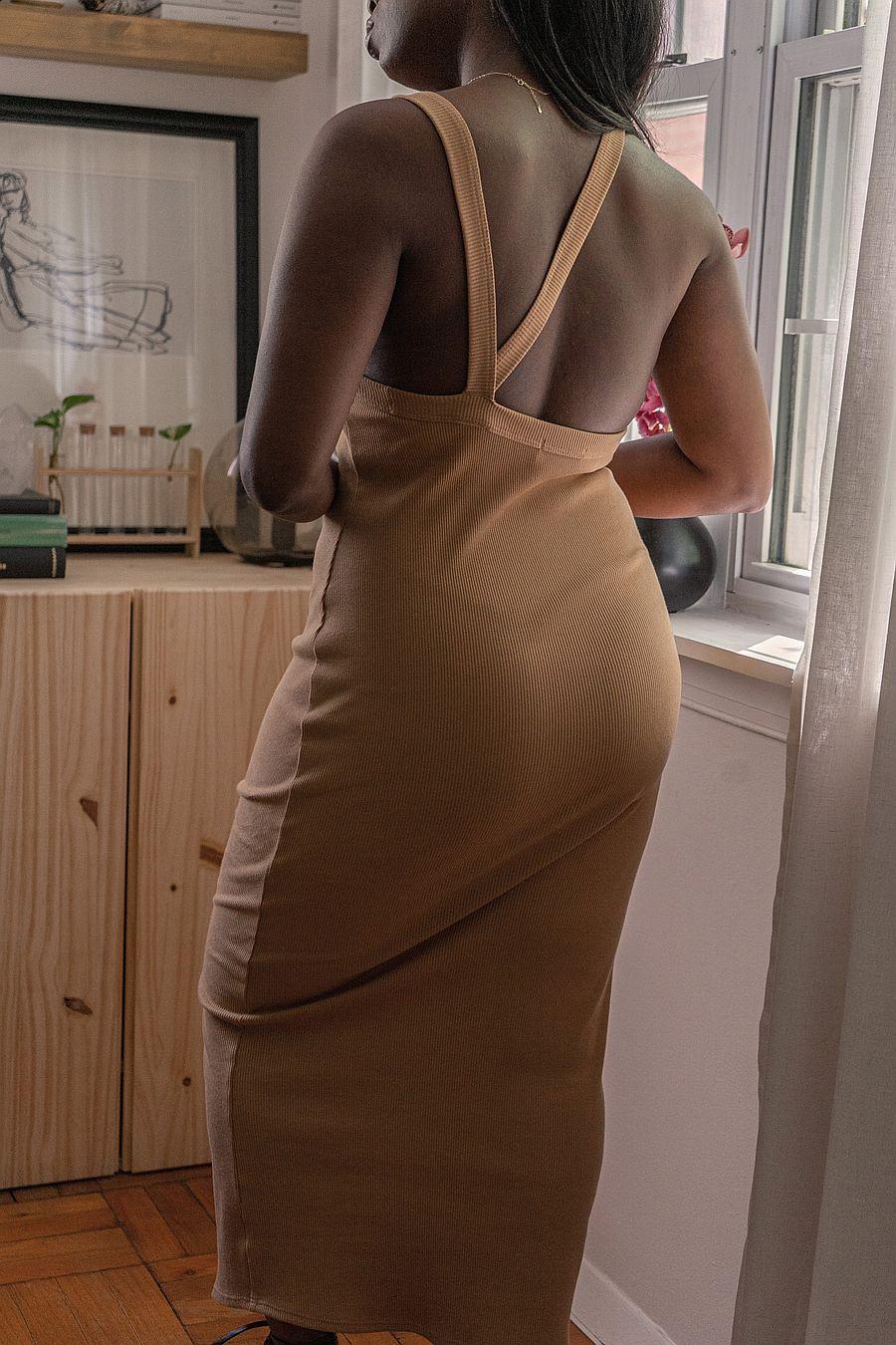 The Line by K Maribel Dress - Camel